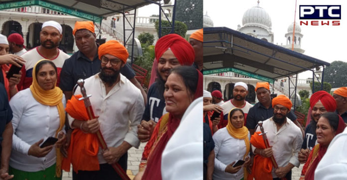 Bollywood Actor Aamir Khan At Gurdwara Bhatta Sahib Ropar
