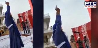 Moga Gurdwara Sahib Granthi Ardas during Air firing , Video Viral