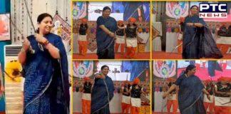 Smriti Irani holds swords, performs 'talwar raas' in Gujarat [VIDEO]