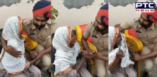 Punjab Constable comforts elderly woman, gets salute from Twitterati [VIRAL VIDEO]