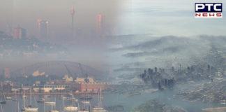 Australia: Sydney wakes up to thick blanket of smoke as more than 50 bushfires burn across NSW