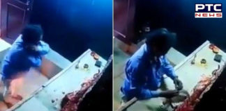 [VIDEO] Thief apologises before stealing Goddess Durga's crown in Hyderabad