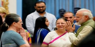 PM Narendra Modi extends wishes to Congress President Sonia Gandhi on her birthday