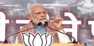 PM Narendra Modi addresses rally in Ramlila Maidan