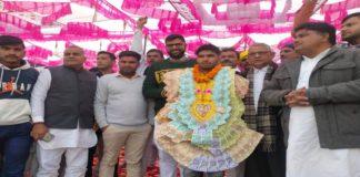 Celebration in honor of wrestler Sunil