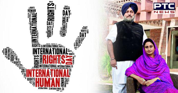 Sukhbir Singh Badal, Harsimrat Kaur Badal extend wishes on International Human Rights Day