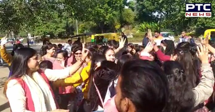 Chandigarh girl students perform Bhangra after Telangana Police kill four accused in rape and murder case