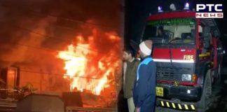 Delhi : Fire broke out in a building in Krishna Nagar ,40 persons rescued by Delhi Fire Service