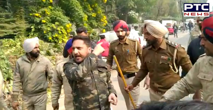 Ludhiana: Scuffle broke out between Police and Youth Congress workers [VIDEO]