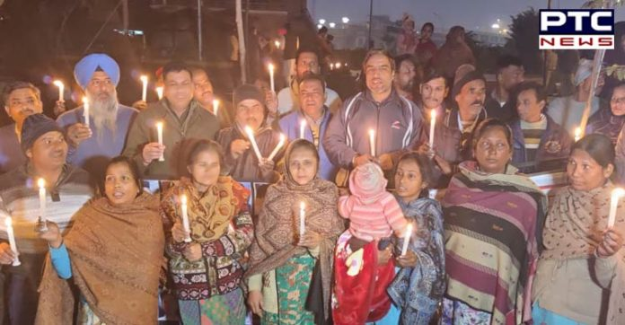 Amritsar Rail Accident Victims next day protest continued , candle march