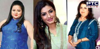 Raveena Tandon, Farah Khan and Bharti Singh
