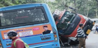 Truck Collided with HRTC bus, 12 injured