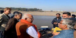 cm-khattar-surprise-inspection-of-sewerage-treatment-plant hi