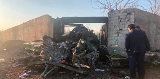 Ukrainian airplane carrying at least 170 passengers and crew crashed