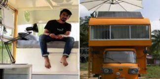 Tamilnadu man build home on auto rickshaw see pics