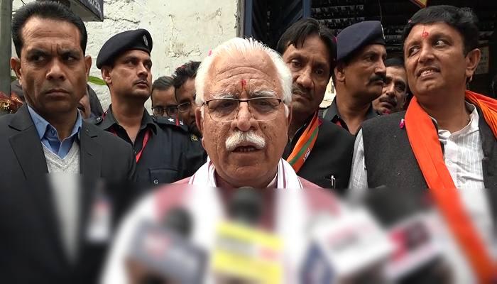 CM Manohar Lal Campaigns in Delhi, Attacks on Arvind Kejriwal