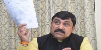 Former minister Manish Grover sent legal notice to MLA Balraj Kundu