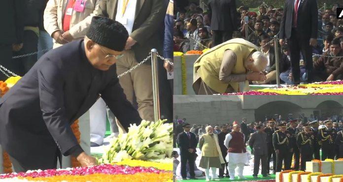 Mahatma Gandhi Death Anniversary , Narendra Modi , Ram Nath Kovind , Raj Ghat