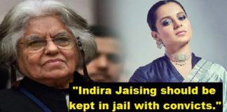 Nirbhaya Case , Indira Jaising Should be kept in Jail , Kangana Ranaut