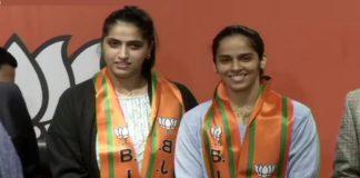 Saina Nehwal sister Chandranshu join BJP , Saina Nehwal joins BJP
