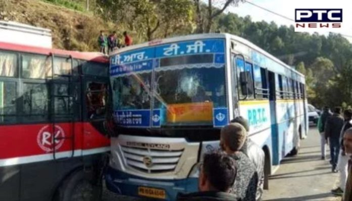 Solan bus Accident : Punjab Roadways bus and private bus between collision , 16 injured