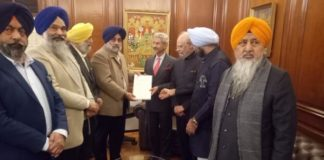 SAD delegation led by Sukhbir Singh Badal met EAM over Sikhs security in Pakistan