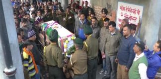 martyred varun kumar sharma cremation with Military honor at native place hi