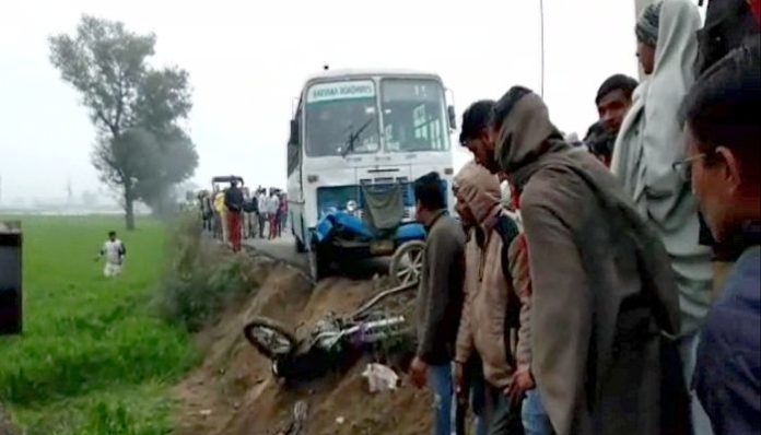 Youth dies after being hit by Haryana Roadways bus