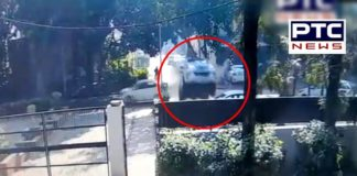 Filmy style accident in Chandigarh, See CCTV footage