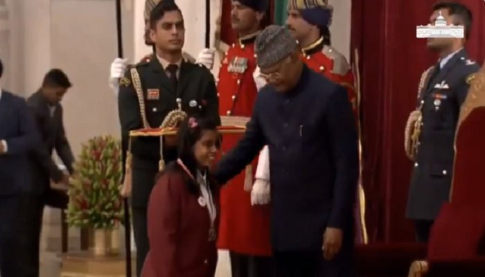 Himachal's Girl Alaika awarded with National Bravery Award by President
