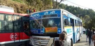 Two Buses Collided in Solan of Himachal Pradesh