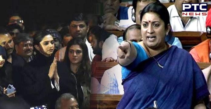 Deepika Padukone has right to stand with people who say 'Bharat tere tukde honge': Smriti Irani
