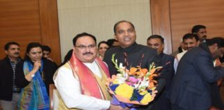 Chief Minister Jairam Thakur congratulates JP Nadda on becoming BJP President