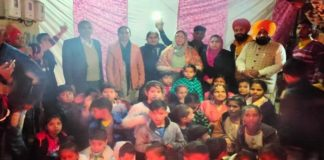 Chandigarh yuva dal celebrated Lohri festival with needy children