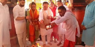 Special worship in Kuldevi's temple for JP Nadda, villager distributes sweets