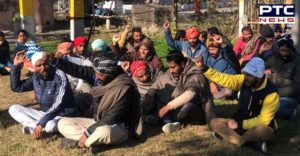 Patiala: PowerCom deceased employees Family member water tank Protest demands