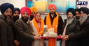 Haryana Sport Minister and Former Hockey Player Sandeep Singh At Golden Temple, Amritsar