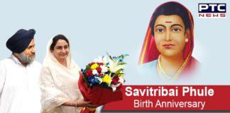 Sukhbir Singh Badal, Harsimrat Kaur Badal salute Savitribai Phule on her birth anniversary
