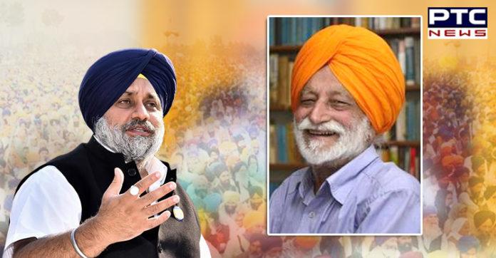 Prof Surjit Hans Death , Sukhbir Singh Badal condoles Surjit Hans Death