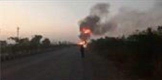 Truck Fire Surat