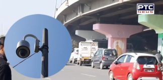 CCTV camera capturing traffic violators and fining them in Gurugram