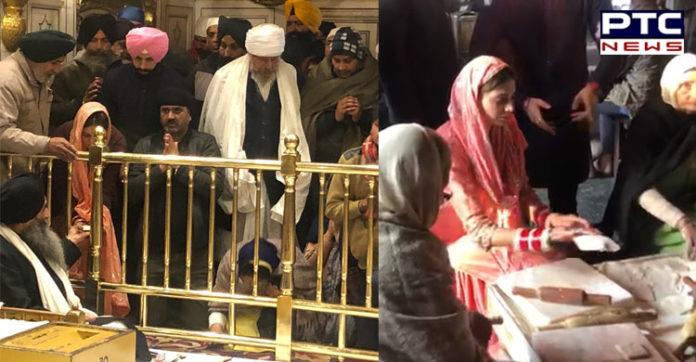 Gurdas Maan son Gurickk Maan Simran Kaur Mundi at Golden Temple