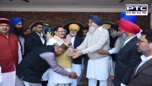 BJP President JP Nadda to invite for Son marriage Former Chief minister Parkash Singh Badal Arrives in village Badal