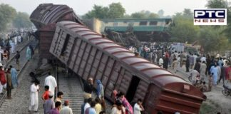Pakistan Train collides with Bus In Sindh province, 30 killed, 60 injured