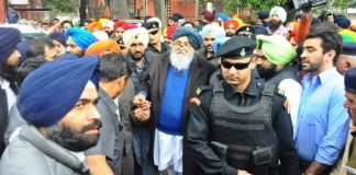 Parkash Singh Badal , Chandigarh police | SAD Detained Farmers Protest