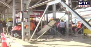 Madhya Pradesh: 6 people injured after footover bridge at Bhopal railway station collapsed this morning.