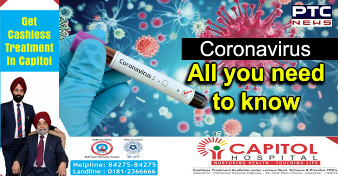 Coronavirus in India , All you need to know , Capitol Hospital Jalandhar