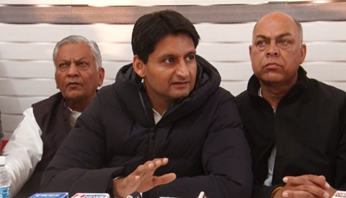 Deepender Hooda attacks on JJP-BJP Government