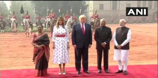 Donald Trump India Visit Rashtrapati Bhawan