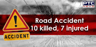 Maharashtra Road Accident , 10 Killed, 7 Injured , Truck collided with SUV